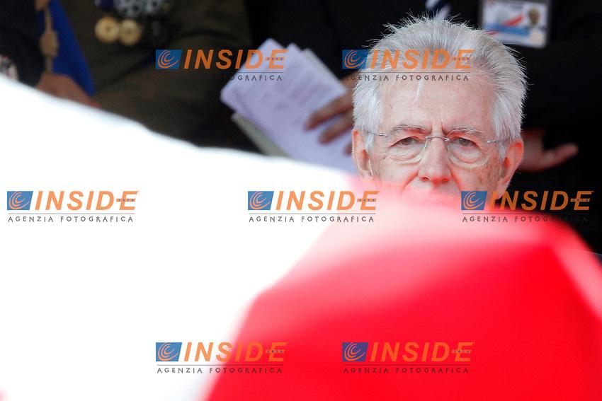 Mario Monti .Roma 02/06/2012 Fori Imperiali. Parata Militare in occasione della Festa della Repubblica.Photo Samantha Zucchi Insidefoto