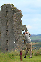Daniel Coyle (Co. Louth) on the 13th tee during Round 3 of The South of Ireland in Lahinch Golf Club on Monday 28th July 2014.<br /> Picture:  Thos Caffrey / www.golffile.ie