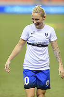Houston, TX - Sunday Sept. 25, 2016: Jessica Fishlock prior to a regular season National Women's Soccer League (NWSL) match between the Houston Dash and the Seattle Reign FC at BBVA Compass Stadium.