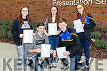 Over the moon were students of Presentation Secondary School,Miltown on Wednesday Front l-r: jack Foley (Killarney) and Ronan O'Shea (Fossa). Back l-r: Emma Murray (Firies),Rebecca Fisher and Ashling O'Neill (Castleismaine).