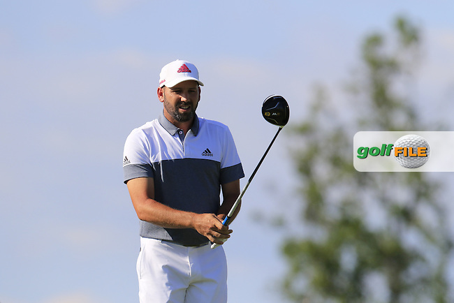 Sergio Garcia (ESP) on the 18th tee during Friday's Round 2 of the 2016 U.S. Open Championship held at Oakmont Country Club, Oakmont, Pittsburgh, Pennsylvania, United States of America. 17th June 2016.<br /> Picture: Eoin Clarke | Golffile<br /> <br /> <br /> All photos usage must carry mandatory copyright credit (&copy; Golffile | Eoin Clarke)