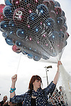 Releasing baloons at the Samhrain festival. Photo: www.pressphotos.ie