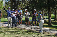 Satoshi Kodaira (JPN) chips on to 1 during round 1 of the World Golf Championships, Mexico, Club De Golf Chapultepec, Mexico City, Mexico. 2/21/2019.<br /> Picture: Golffile | Ken Murray<br /> <br /> <br /> All photo usage must carry mandatory copyright credit (© Golffile | Ken Murray)