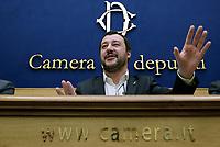 Matteo Salvini presenta i candidati Claudio Borghi e Alberto Bagnai