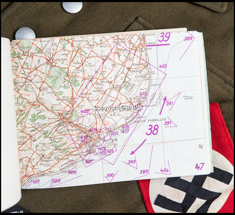 BNPS.co.uk (01202 558833)<br /> Pic: PhilYeomans/BNPS<br /> <br /> In the front line - Dover was just 22 miles from Nazi Europe<br /> <br /> Chilling - Hitlers 'How to' guide to the invasion of Britain.<br /> <br /> A remarkably detailed invasion plan pack of Britain has been unearthed to reveal how our genteel seaside resorts would have been in the front line had Hitler got his way in World War Two.<br /> <br /> The Operation Sea Lion documents, which were issued to German military headquarters' on August 1, 1940, contain numerous maps and photos of every town on the south coast.<br /> <br /> They provide a chilling reminder of how well prepared a German invading force would have been had the Luftwaffe not been rebuffed by The Few in the Battle of Britain.<br /> <br /> There is a large selection of black and white photos of seaside resorts and notable landmarks stretching all the way from Land's End in Cornwall to Broadstairs in Kent.<br /> <br /> The pack also features a map of Hastings, raising the possibility that a second battle could have been staged there, almost 900 years after the invading William The Conqueror triumphed in 1066.