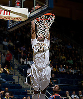 Allen Crabbe of California dunks the ball during the game against Pepperdine at Haas Pavilion in Berkeley, California on November 13th, 2012.  California defeated Pepperdine, 79-62.