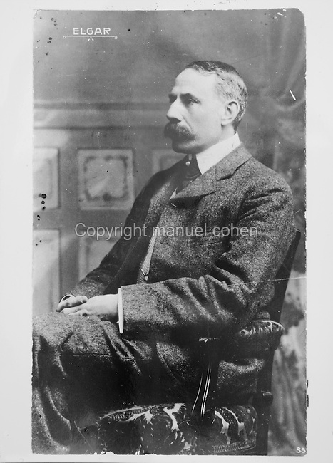 Portrait of Edward Elgar, 1857-1934, English composer, photograph taken c. 1910. Copyright © Collection Particuliere Tropmi / Manuel Cohen