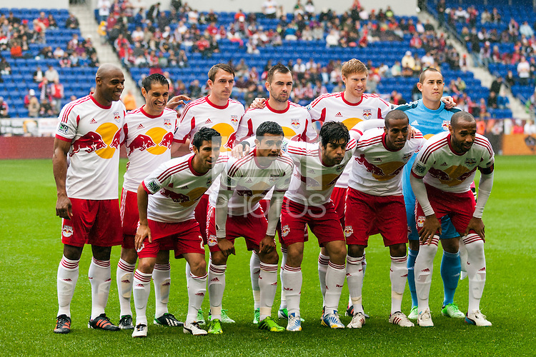 New York Red Bulls starting eleven. The New York Red Bulls defeated the Los Angeles Galaxy 1-0 during a Major League Soccer (MLS) match at Red Bull Arena in Harrison, NJ, on May 19, 2013.