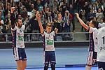 10.02.2018, Hamburg GER, VBL, SVG Lueneburg vs Berlin Recycling Volleys, im Bild die Lueneburger Mannschaft jubelt/ Foto © nordphoto / Witke