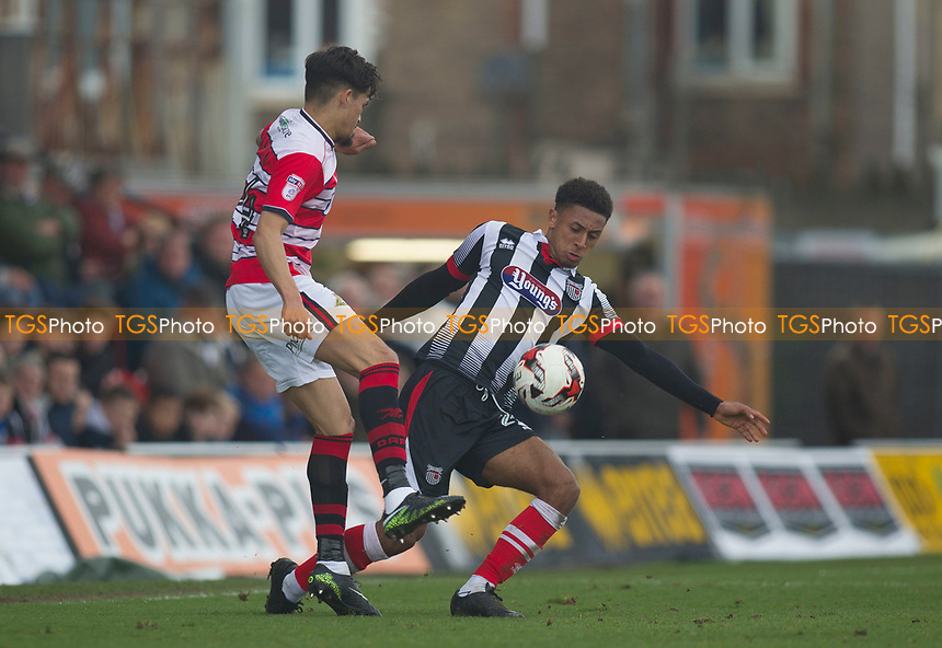 Brandon Comley of Grimsby T during Grimsby Town vs Doncaster Rovers, Sky Bet EFL League 2 Football at Blundell Park on 1st April 2017
