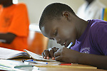 A student studies at the Loreto Girls Secondary School in Rumbek, South Sudan. The school is run by the Institute for the Blessed Virgin Mary--the Loreto Sisters--of Ireland.