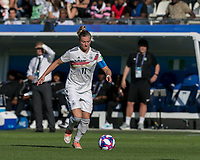 GRENOBLE, FRANCE - JUNE 22: Alexandra Popp #11 of the German National Team dribbles at midfield during a game between Nigeria and Germany at Stade des Alpes on June 22, 2019 in Grenoble, France.