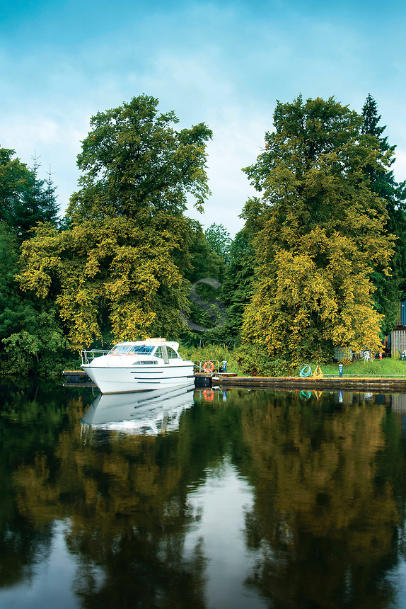 Autumn colours at the Caledonian Canal, near Inverness, Highland