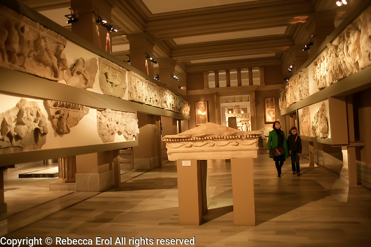 The Archaeological Museum in Istanbul, Turkey: the Lagina Hecate temple and its frieze