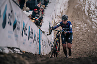 Nikki Brammeier (GBR/MudIIIta Cycling) in the infamous &quot;Pit&quot;<br /> <br /> Superprestige Zonhoven (BEL) 2018