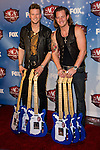 Brian Kelley and Tyler Hubbard of Florida Georgia Line in the press room at the American Country Awards 2013 at the Mandalay Bay Resort & Casino in Las Vegas, Nevada