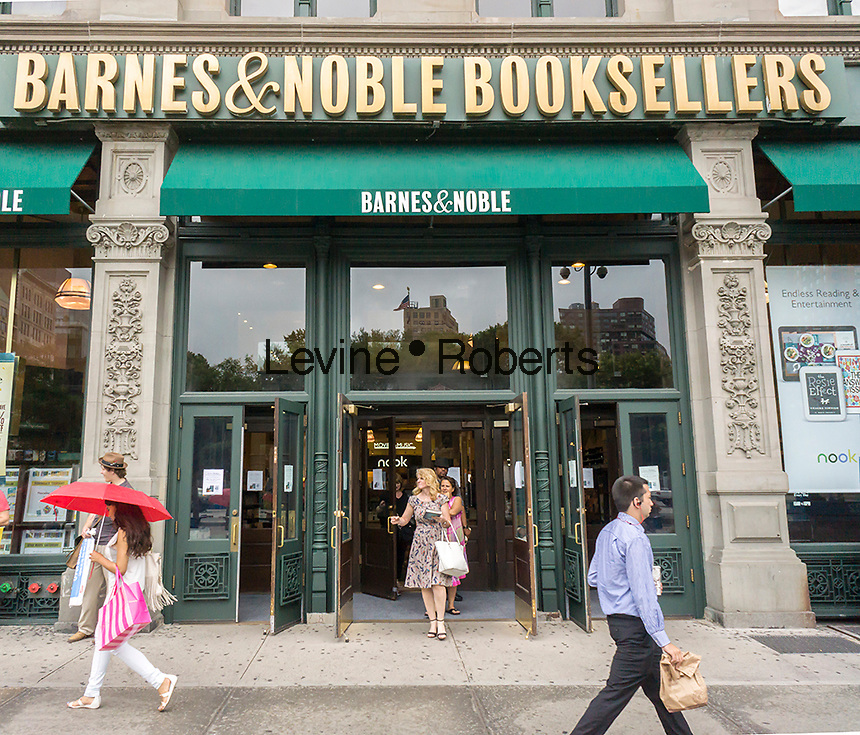 "The exterior of a Barnes & Noble bookstore in New York on the release date of ""Go Set a Watchman"" by Harper Lee on Tuesday, July 14, 2015. The famed Pulitzer Prize winning author Harper Lee's  second novel, ""Go Set A Watchman"" is a sequel to ""To Kill a Mockingbird"" published 50 years ago. Watchman was actually written prior to Mockingbird and was recently found after being thought lost. (© Richard B. Levine)"