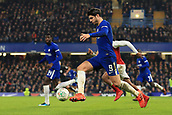 10th January 2018, Stamford Bridge, London, England; Carabao Cup football, semi final, 1st leg, Chelsea versus Arsenal; Alvaro Morata of Chelsea