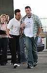 .4-2-09.Kevin Dillon filming a fight scene for the tv show Entourage in Los Angeles ca after a murder plot just happened...  AbilityFilms@yahoo.com.805-427-3519.www.AbilityFilms.com..