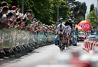 Team Sky going in their final  km of their TTT.<br /> <br /> Stage 3 (Team Time Trial): Cholet > Cholet (35km)<br /> <br /> 105th Tour de France 2018<br /> ©kramon