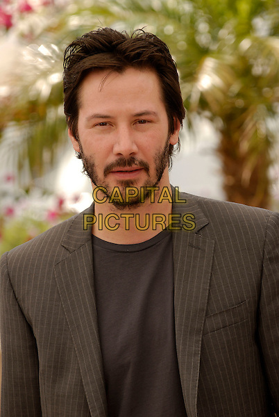 "KEANU REEVES .""A Scanner Darkly"" photocall at the 59th International Cannes Film Festival, France. .25th May 2006.Ref: KRA.headshot portrait beard facial hair.www.capitalpictures.com.sales@capitalpictures.com.©Persun/Capital Pictures"