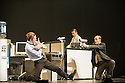 London, UK. 23.10.2013. Kristjan Ingimarsson / Neander present BLAM! at the Peacock Theatre. Picture shows: Kristjan Ingimarsson, Didier Oberle and Janus Elsig. Photograph © Jane Hobson.