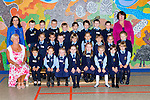 Sheila Goulding with her junior infant class that started school in St Olivers NS, Killarney on Monday front row l-r: Sheila Goulding, Maria Marchetti, Evan Nimzuk, Francesca Green, Erica Conway, Livia Puotualis, Julia Sosnowska, Emma O'Connor, Veronika Repcakova. Middle row: Anatasia Zikare, Max Duornicka, James Marshall, Archie Guban, Justyna Wojtczak, Karolina Weglarz, Emily Gulbe-McCarthy, Sofia Alek Sejenko. Back row: Terry Landers, Stephen shine, Nathan O'Brien, Julia Ostrykiewicz, Brandon O'Brien, Conor Sugrue, Edward Hue, Aron Heaphy, Daragh Moran and Joan O'Mahony