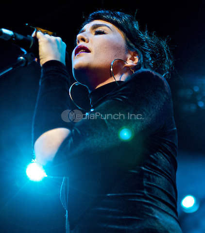 NEW YORK, NY - APRIL 5: Jessie Ware in concert at Webster Hall in New York City. April 5, 2013: Credit: Robert Altman/MediaPunch Inc.