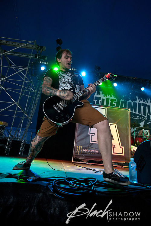 The Amity Affliction performing at the 2012 Melbourne Big Day Out, 29 January 2012