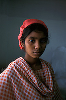 Portrait of a young textile worker in Mirpur Dhaka.