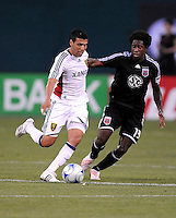 DC United midfielder Clyde Simms (19) one on one with Real Salt Lake midfielder Javier Morales (11)   DC United tied Real Salt Lake 0-0 at  RFK Stadium, Saturday May 23, 2009.