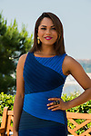 "Monica Raymund ""Chicago Fire"" attends photocall at the Monte Carlo Beach Hotel on June 10, 2014 in Monte-Carlo, Monaco."