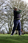 Declan Darby teeing off at the Glebe Golf Course.Pic Fran Caffrey Newsfile.©Newsfile Ltd.