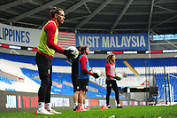 Gareth Bale of Wales in action during the Wales Training Session at the Cardiff City Stadium in Cardiff, Wales, UK. Thursday 15 November 2018