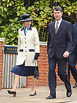"""PRINCESS ANNE AND HUSBAND TIM LAURENCE.attend Easter Service at St George's Chapel, Windsor_April8, 2012.Mandatory credit photo: ©NEWSPIX INTERNATIONAL..(Failure to credit will incur a surcharge of 100% of reproduction fees)..                **ALL FEES PAYABLE TO: """"NEWSPIX INTERNATIONAL""""**..IMMEDIATE CONFIRMATION OF USAGE REQUIRED:.Newspix International, 31 Chinnery Hill, Bishop's Stortford, ENGLAND CM23 3PS.Tel:+441279 324672  ; Fax: +441279656877.Mobile:  07775681153.e-mail: info@newspixinternational.co.uk"""