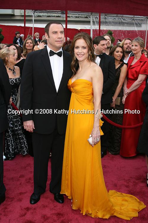 John Travolta & Kelly Preston.80th Academy Awards ( Oscars).Kodak Theater.Los Angeles, CA.February 24, 2008.©2008 Kathy Hutchins / Hutchins Photo.