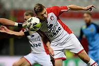 EMMEN - Voetbal, FC Emmen - SC Cambuur, Jens Vesting, Jupiler League, seizoen 2017-2018, 06-10-2017,  FC Emmen speler Alexander Bannink