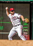 8 July 2017: Washington Nationals second baseman Daniel Murphy in action against the Atlanta Braves at Nationals Park in Washington, DC. The Braves shut out the Nationals 13-0 to take the third game of their 4-game series. Mandatory Credit: Ed Wolfstein Photo *** RAW (NEF) Image File Available ***