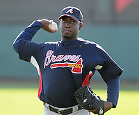 14 March 2009: Rafael Soriano of the Atlanta Braves at Spring Training camp at Disney's Wide World of Sports in Lake Buena Vista, Fla. Photo by:  Tom Priddy/Four Seam Images