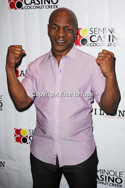 Mike Tyson appears at the Seminole Coconut Creek Casino on November 10, 2012 in Coconut Creek, Florida. ..Credit: MediaPunch/face to face..- Germany, Austria, Switzerland, Eastern Europe, Australia, UK, USA, Taiwan, Singapore, China, Malaysia and Thailand rights only -