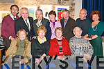 21 years: At Monday evenings 21st anniversary celebration for the founding committee of St John's Theatre and Arts Centre in Listowel were front l-r Nora Relihan, Louise McDonough, Noreen Buckley and Maurice Stack. Back l-r John Halkett, Jimmy Deenihan, Michael Dowling, Kay Ryan, Dennis Buckley, Joe Murphy and Liz O'Reilly.   Copyright Kerry's Eye 2008