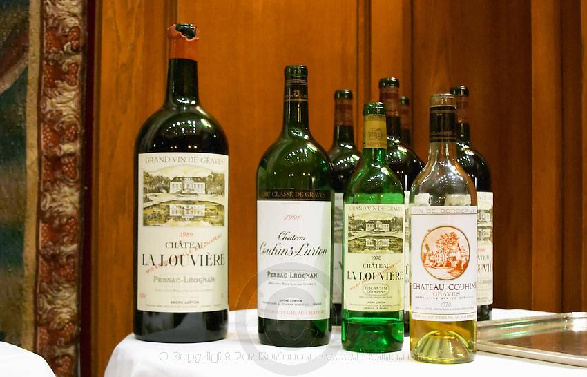 Chateau La Louviere 1989, Pessac Leognan, Graves, Ch Couhins Lurton 1990, Ch La Louviere 1978, Couhins 1970. Bordeaux, France