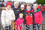 Hanahmarie Broderick and Mary Satck(Caherhayes) with Chloe, Nita, Johnny and Fiona Hartnett (Abbeyfeale) enjoying the annual coursing meeting held last week in Abbeyfeale.