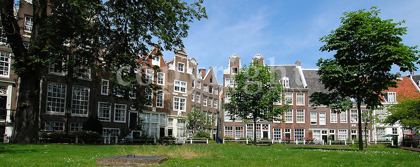 The Begijnhof is an enclosed courtyard dating from the early 14th century. Nothing survived of the earliest dwellings, but the Begijnhof, which is cut off from Amsterdam's traffic noice, still retains a sanctified atmosphere. The Begijnhof was originally built as a sactuary for the Begijntjes, a Catholic sisterhood who lived like nuns, although they took no monastic vows. Source: http://www.amsterdam.info/sights/begijnhof/
