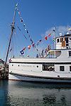 Port Townsend, Wooden Boat Festival, 2014, Port Hudson Marina, historic steamboat, Virginia V, Olympic Peninsula, Washington State, Pacific Northwest, United States,
