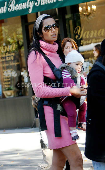WWW.ACEPIXS.COM . . . . .  ....November 3 2010, New York City....TV personality Padma Lakshmi and her baby daughter Krishna seen walking around Soho on November 3 2010 in New York City....Please byline: NANCY RIVERA- ACEPIXS.COM.... *** ***..Ace Pictures, Inc:  ..Tel: 646 769 0430..e-mail: info@acepixs.com..web: http://www.acepixs.com