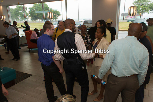 The Hyde Park Chamber of Commerce held its monthly First Thursday business networking event this Thursday at LaQuinta Inn and Suites located at 4900 S. Lake Shore Drive. The Hyde Park Chamber of Commerce hosts a free and open to the public gathering every month to allow entrepreneurs in the community to gather and network. <br /> <br /> 2603 &ndash; Interim 4th Ward Alderman, Sophia King attended the event. <br /> <br /> Please 'Like' &quot;Spencer Bibbs Photography&quot; on Facebook.<br /> <br /> All rights to this photo are owned by Spencer Bibbs of Spencer Bibbs Photography and may only be used in any way shape or form, whole or in part with written permission by the owner of the photo, Spencer Bibbs.<br /> <br /> For all of your photography needs, please contact Spencer Bibbs at 773-895-4744. I can also be reached in the following ways:<br /> <br /> Website &ndash; www.spbdigitalconcepts.photoshelter.com<br /> <br /> Text - Text &ldquo;Spencer Bibbs&rdquo; to 72727<br /> <br /> Email &ndash; spencerbibbsphotography@yahoo.com