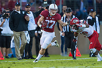 STANFORD, CA - NOVEMBER 15, 2014: Christian McCaffrey during Stanford's game against Utah. The Utes defeated the Cardinal 20-17 in overtime.