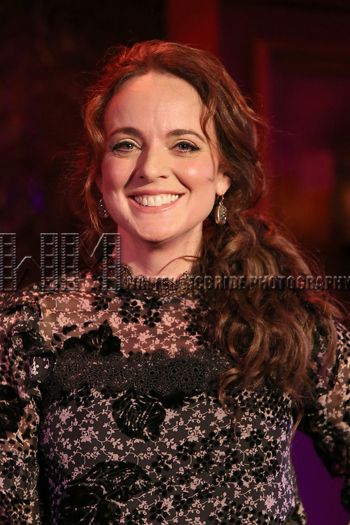 "Melissa Errico during her ""Sings Sondheim"" press preview on October 3, 2018 at Feinstein's/54 Below in New York City."
