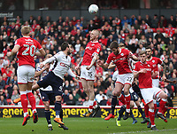Bolton Wanderers' Adam Le Fondre has an attempt at goal<br /> <br /> Photographer Rachel Holborn/CameraSport<br /> <br /> The EFL Sky Bet Championship - Barnsley v Bolton Wanderers - Saturday 14th April 2018 - Oakwell - Barnsley<br /> <br /> World Copyright &copy; 2018 CameraSport. All rights reserved. 43 Linden Ave. Countesthorpe. Leicester. England. LE8 5PG - Tel: +44 (0) 116 277 4147 - admin@camerasport.com - www.camerasport.com